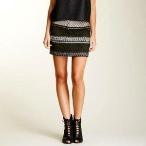 EDUN Wool, Alpaca & Mohair Blend Mini Skirt Size:2